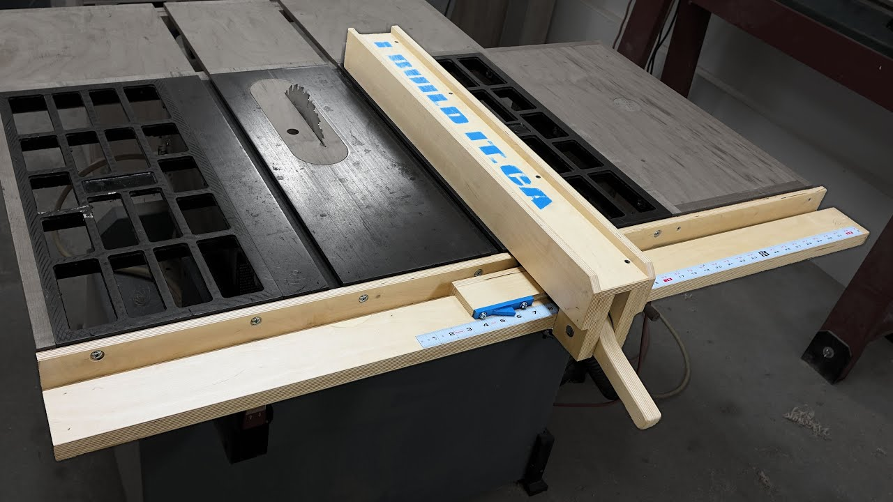 How To Make A Wooden Table Saw Fence  . Full resolution‎  img, nominally Width 4017 Height 2260 pixels, img with #146EB7.