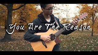 You Are The Reason - Acoustic Fingerstyle Guitar - Edward Ong [ Karaoke Version With Lyrics ]