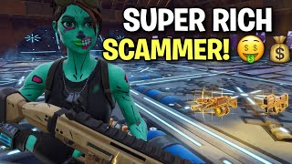 Very RICH Scammer Just Scammed Himself! 🤑💰 (Scammer Get Scammed) Fortnite Save The World