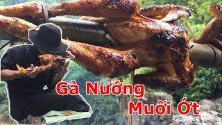 Gà Nướng Muối Ớt Bên Bờ Suối l Roasted chicken with chili salt l  Hiếu Sáo