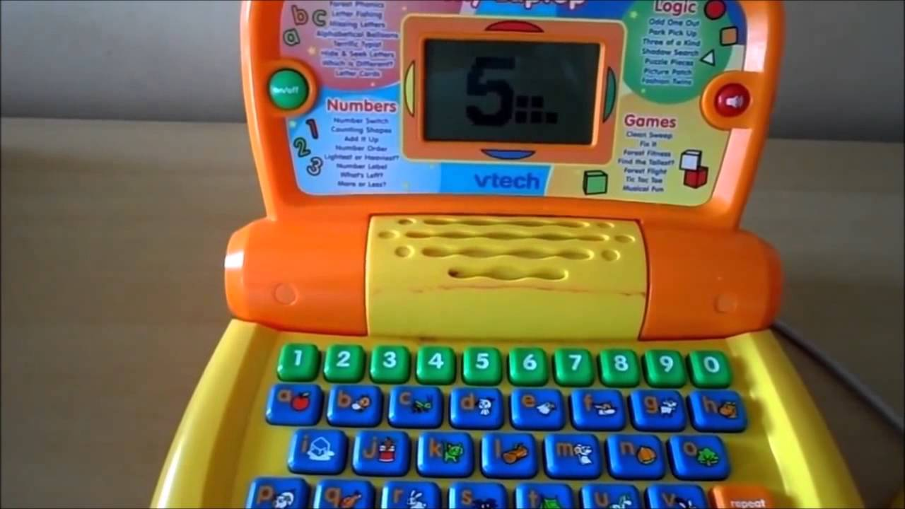 Vtech My Laptop Yellow Preschool Toy Computer With Abc And Numbers