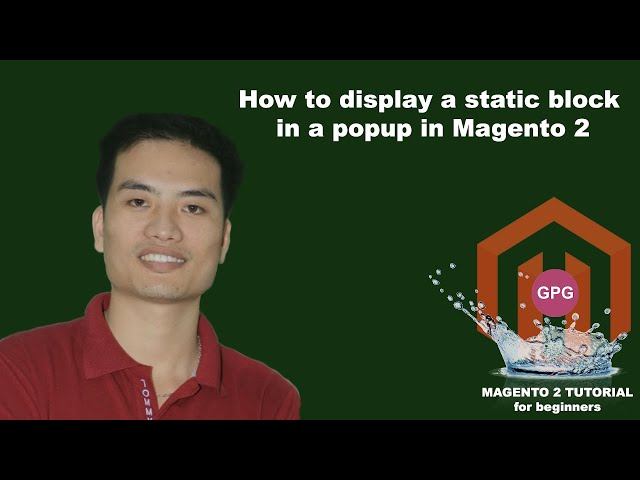 How to display a static block in a popup in Magento 2