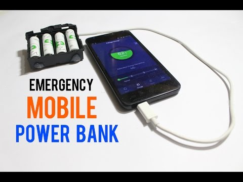 How To Make An Emergency Mobile Phone Charger Using AA Batteries