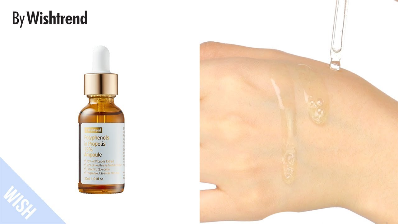 How to Use Anti-aging Serum (Extremely Dry Skin) | BY WISHTREND Polyphenol  in Propolis 15% Ampoule