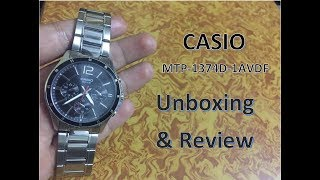 Casio Enticer MTP-1374D-1AVDF (A832) Watch Unboxing and Review