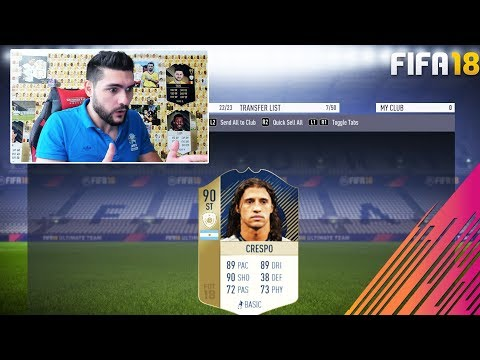 WE GOT THE BEAST PRIME 90 CRESPO !!! 90 CRESPO PLAYER REVIEW FIFA 18 ULTIMATE TEAM