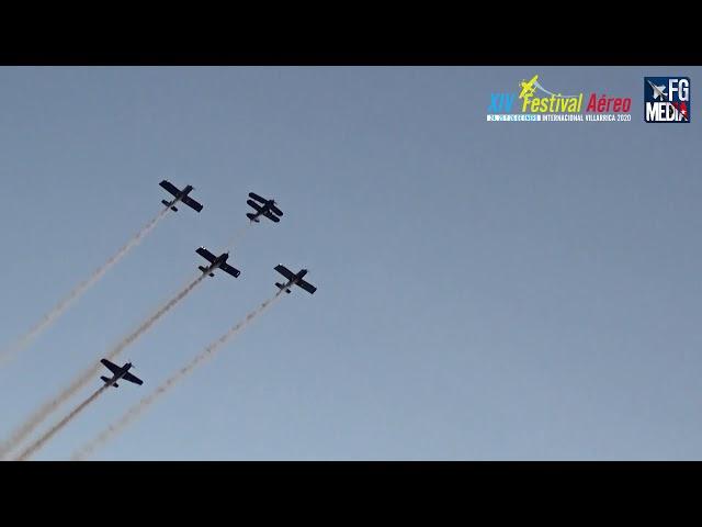 Formación Falistocco en Festival aéreo de Villarrica 2020, Karam P. - Mijali P. - RV TEAM