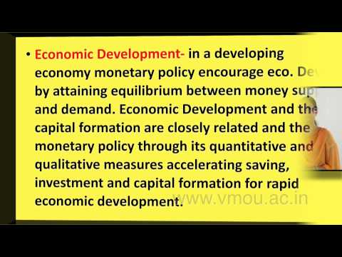 Roles, Objectives & Instruments of Monetary Policy in India