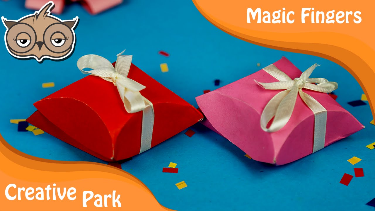 How to make a easy gift box out of paper