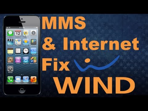 IPhone 5 Wind Mobile MMS And Internet Fix