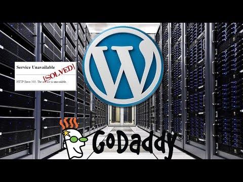 WordPress service unavailable error