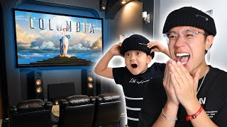 I Built an INSANE Movie Theatre in my Home!! **10/10 BEST TRANSFORMATION**