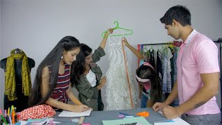 Young students attending fashion designing workshop in casual wear