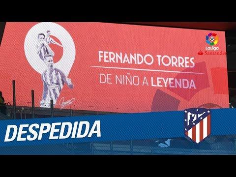 Fernando Torres se despide del Atlético de Madrid