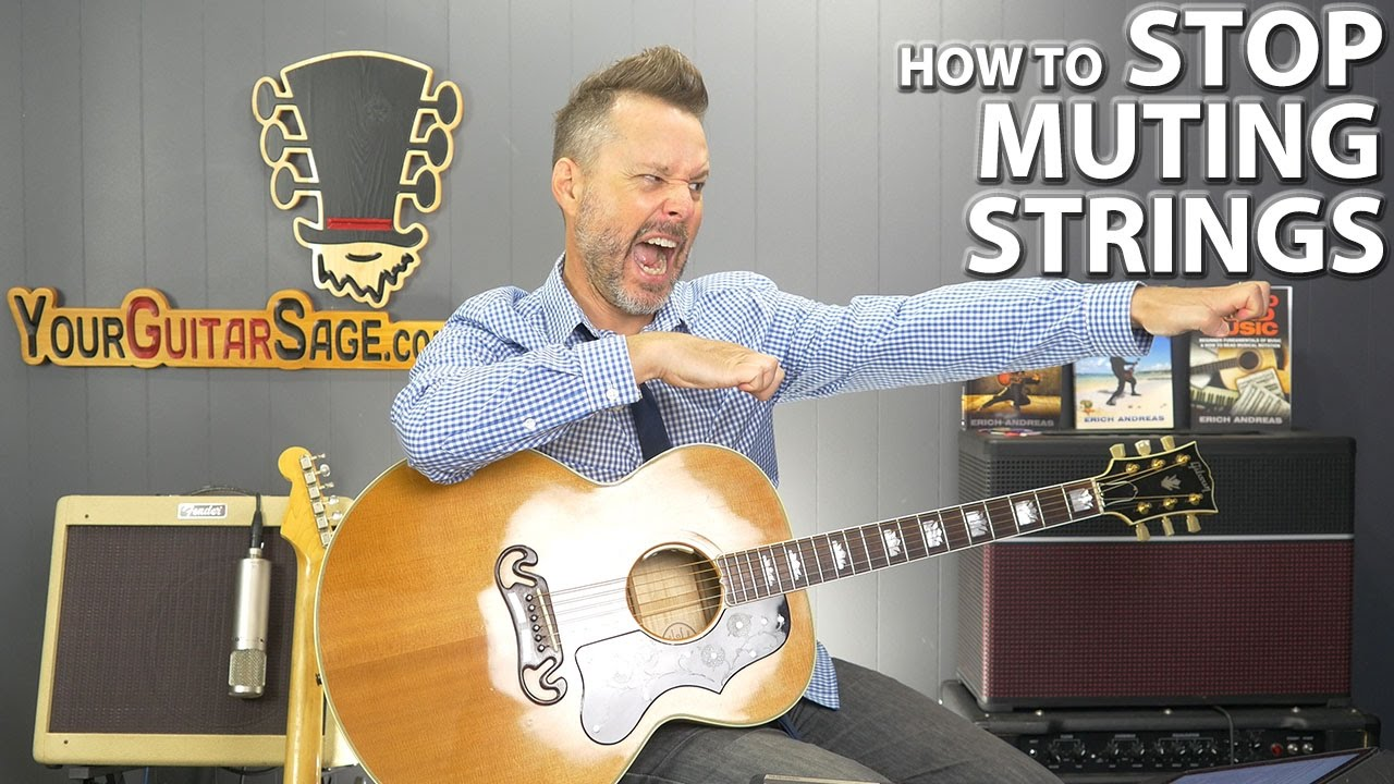 guitar how to avoid playing strings