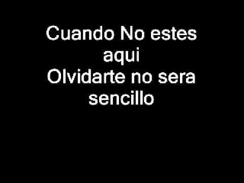 Olvidarte no sera sencillo-Banda Carnaval (Letra)