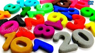 Learn To Count, Numbers With Play Doh numbers 0 To 20 Collection numbers 0 To 100 counting 0 To 100