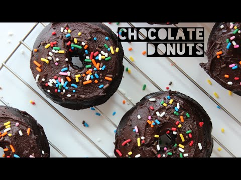 How to Make Healthy Chocolate Donuts   Healthy Low Calorie Donut Recipe (ONLY 125 CALORIES)