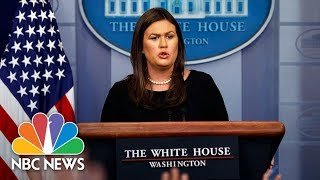Video White House Press Briefing - August 14, 2018 | NBC News download MP3, 3GP, MP4, WEBM, AVI, FLV Agustus 2018