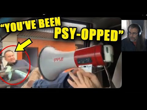 """""""You've Been Psy-Opped!"""" Angry Biker Smashes Window Because of THIS?!"""