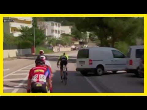 Breaking News | Watch: The scary moment a van almost reverses into riders at Tour of Croatia