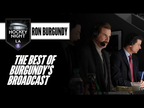 If you thought Ron Burgundy was a hoot as a TV anchor, wait til you hear him call hockey