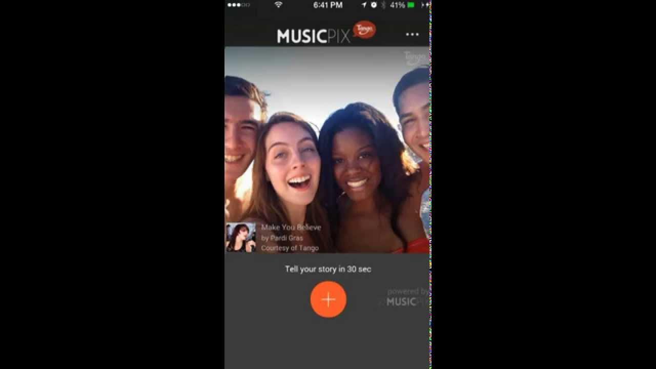 Tango MusicPix App iPhone