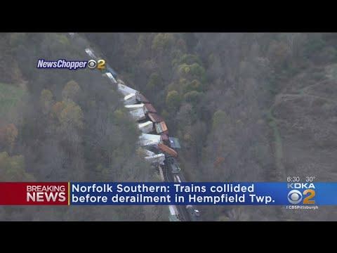 Train Collision Causes Derailment In Hempfield Township