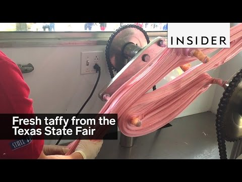 The freshest taffy is made at the Texas State Fair
