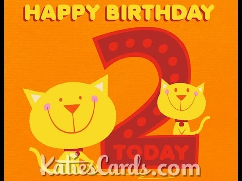 Happy 2nd Birthday Cats Ecard