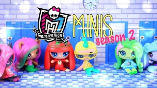 Unbox Daily: Monster High Minis - Season 2 - Doll Review - 4K
