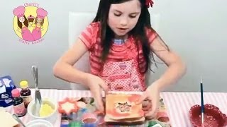 Easy Painted Fairy Bread - Edible Holiday Craft - Kids Tutorial By Charli
