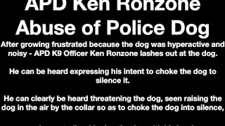 Officer Abuses Dog (k9) In Albuquerque