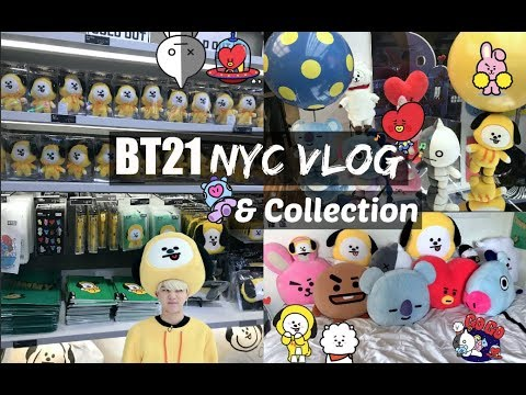 BT21 in NYC Vlog & BT21 Collection