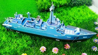 DIY how to make a Ship with cardboard-Easy miniature dollhouse crafts with paperboard-Creative Idea!