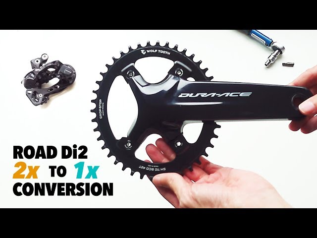 Road Di2 1x drivetrain conversion and how to fit Wolf Tooth chainring to DA R9100 crank
