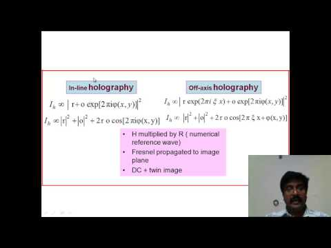 Digital holography for three-dimensional information processing: Anith Nelleri VIT Chennai