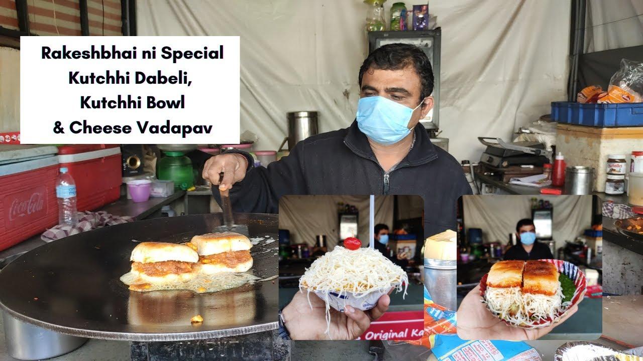 Download Rakeshbhai Na Famous Kutchhi Dabeli, Kutchhi Bowl & Cheese Vadapav | Street Food Ahmedabad