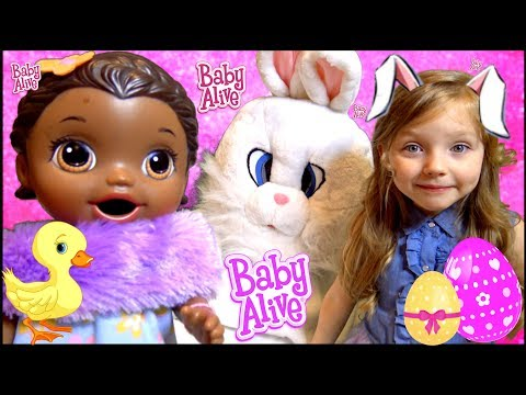 BABY ALIVE has EASTER MORNING! MEET the BUNNY! The Lilly and Mommy Show. The TOYTASTIC Sisters. The