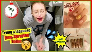 Trying Japanese Spray Toilet for the First Time | Vlogmas 3