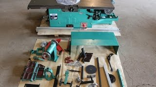 How to assemble multi-use woodworking machine ML393A /ML393D