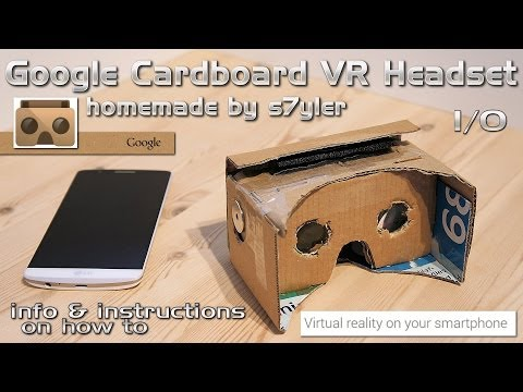 Google Cardboard VR Headset Homemade / DIY Virtual Reality