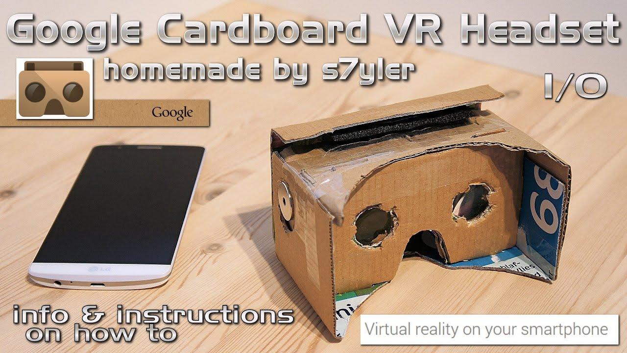 google cardboard vr headset homemade diy virtual reality youtube. Black Bedroom Furniture Sets. Home Design Ideas