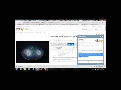 Hacked eBay Listings / Auctions - PANArt Hang / HandPan