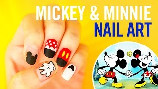Mickey & Minnie Nail Art Tutorial | #StephStoneNails | Disney Style