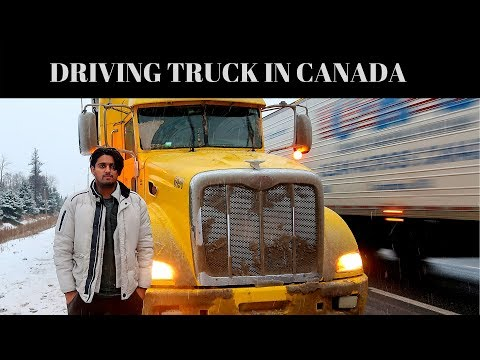 TRUCK DRIVER IN CANADA (TORONTO TO WINNIPEG)PART 1