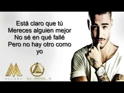 Maluma - El Perdedor - ( Video lyric ) ( Letra ) ( pretty boy dirty boy  )