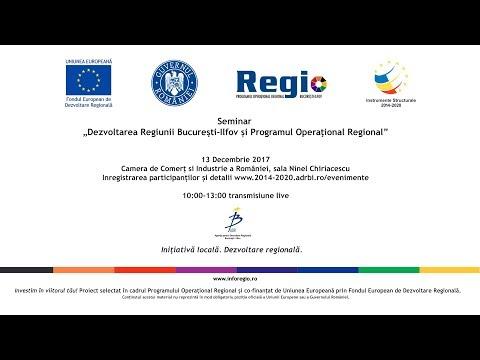"""Seminar """"Dezvoltarea Regiunii Bucureşti-Ilfov si Programul Operaţional Regional"""""""