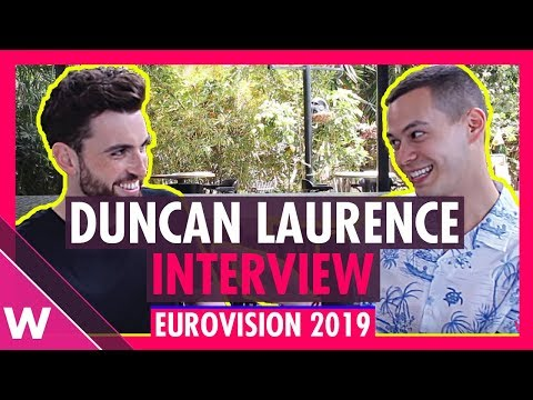 Duncan Laurence (The Netherlands) interview @ Eurovision 2019 in Tel Aviv