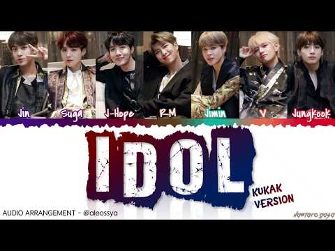 BTS (방탄소년단) – 'IDOL' (KUKAK VERSION) Lyrics [Color Coded_Han_Rom_Eng] / [CLEAN AUDIO By ALEOSSYA]